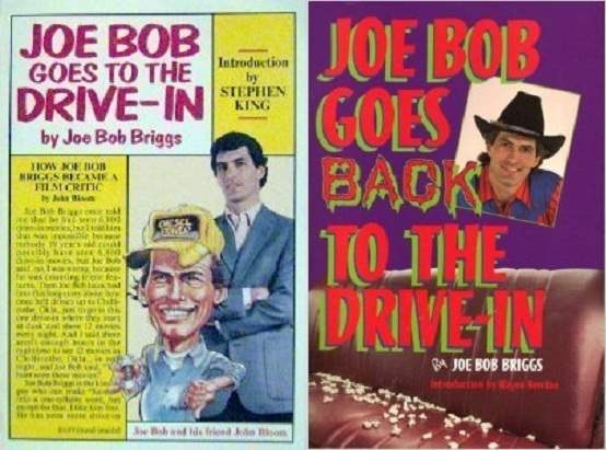 Cover images to Joe Bob Goes To The Drive-In books by Joe Bob Briggs