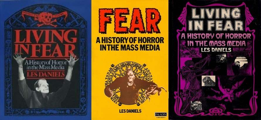Cover images to Living in Fear by Les Daniels