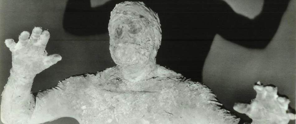 Natural mummy from 1958's classic Curse of the Faceless Man.