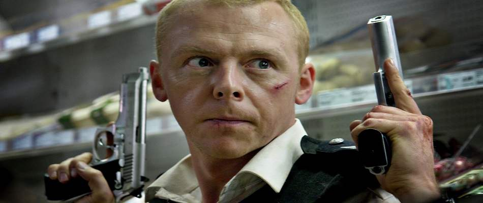 Photo of Simon Pegg from 2007's Hot Fuzz.