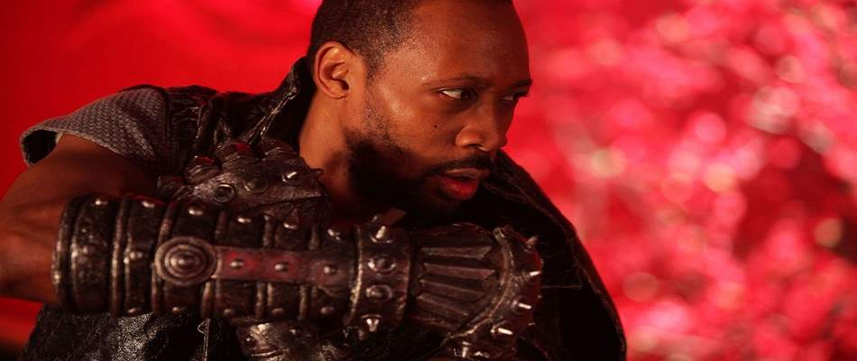 Rza as the Man with the Iron Fists