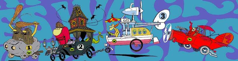 Cast and Cars of Wacky Races, Part 1