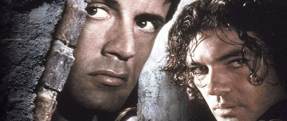 Sylvester Stallone and Antonio Banderas in 1995's Assassins.