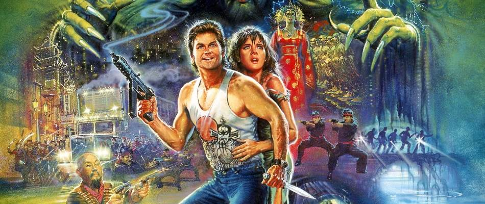 Poster detail from Big Trouble in Little China.