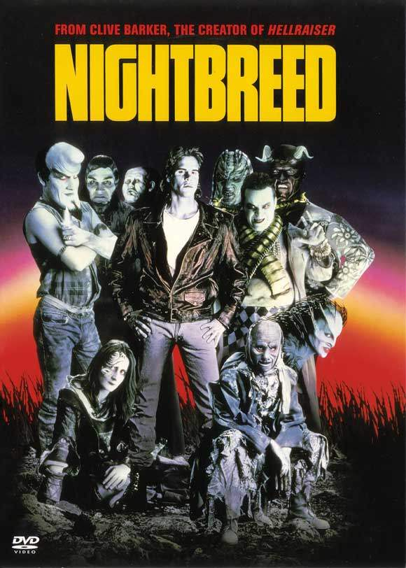 DVD cover for Clive Barker's Nightbreed