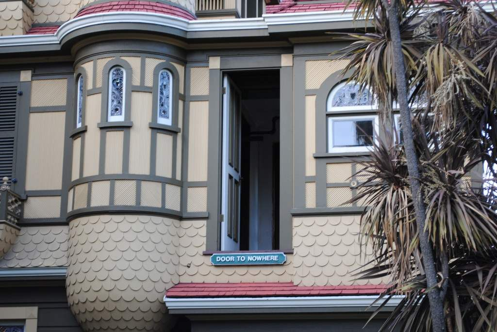 the door to nowhere at the winchester house.