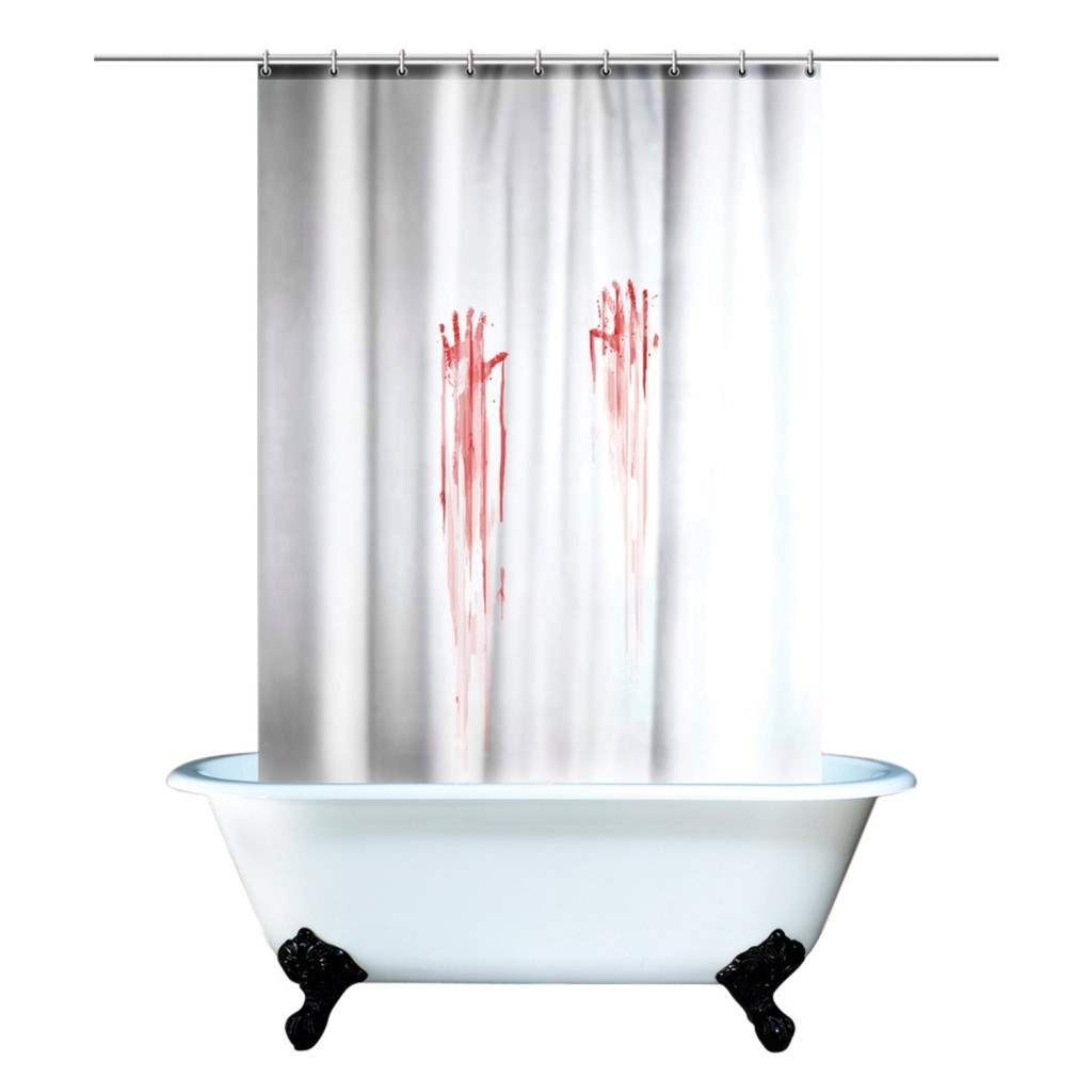 bloody shower curtains available at Dr Grab.