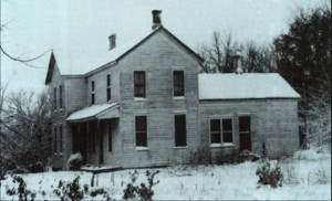 The farmhouse of serial killer Edward Gein.
