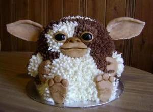 Gremlins movie horror themed cake.