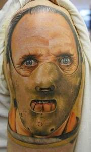 hannibal lecter silence of the lambs movie tattoo.