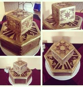Hellraiser puzzle box themed cake.