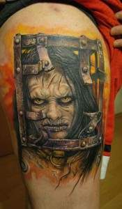 thirteen ghosts horror movie the jackal tattoo.