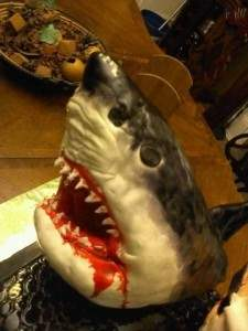 Jaws movie themed cake.