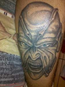 The creeper tattoo from jeepers creepers