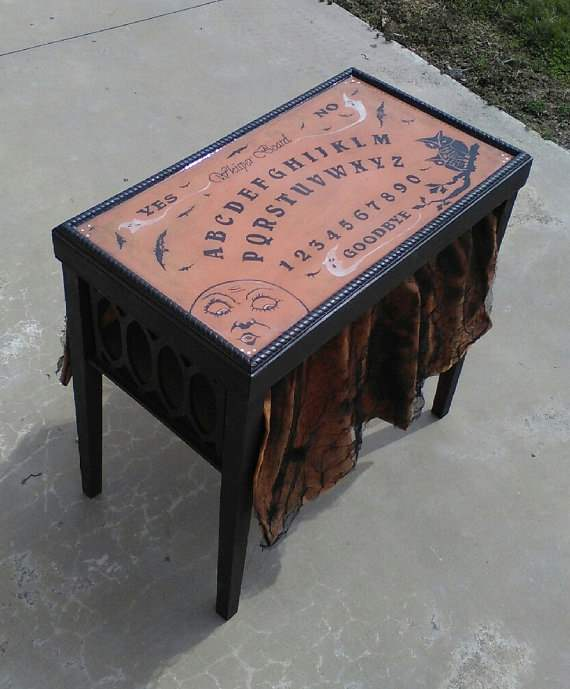 ouija board table availalbe on Etsy.