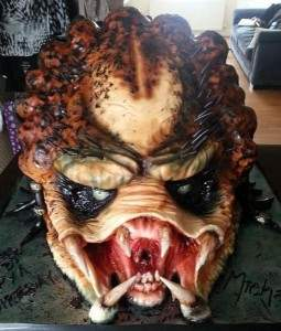 Predator horror movie themed cakes.