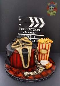 Scream horror movie themed cake.