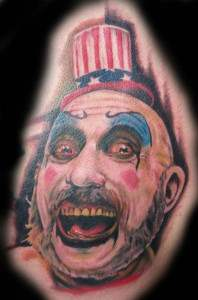 captain spaulding from the movie house of 1000 corpses.