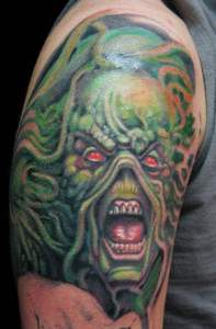 Wes cravens swamp thing tattoo.