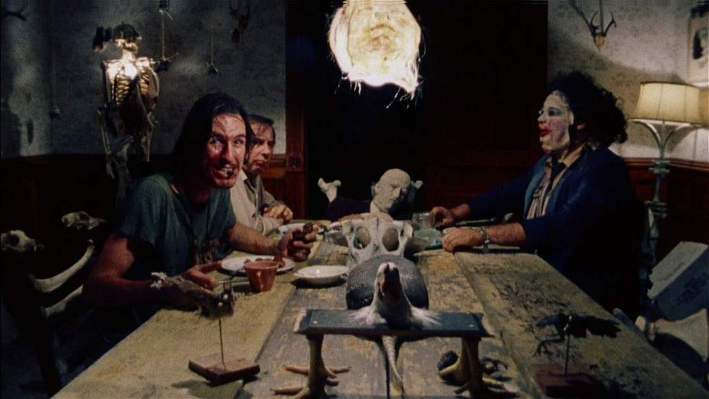 the texas chainsaw massacre 1974 dinner scene.
