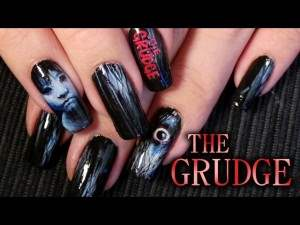the movie the grudge nail art.