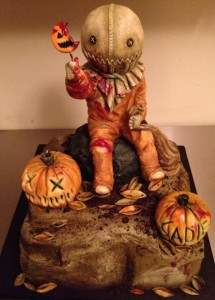 Trick r treat horror movie themed cake.