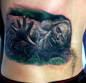 the walking dead tv show zombie tattoo.