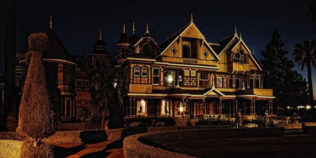 The winchester house of mystery in California.