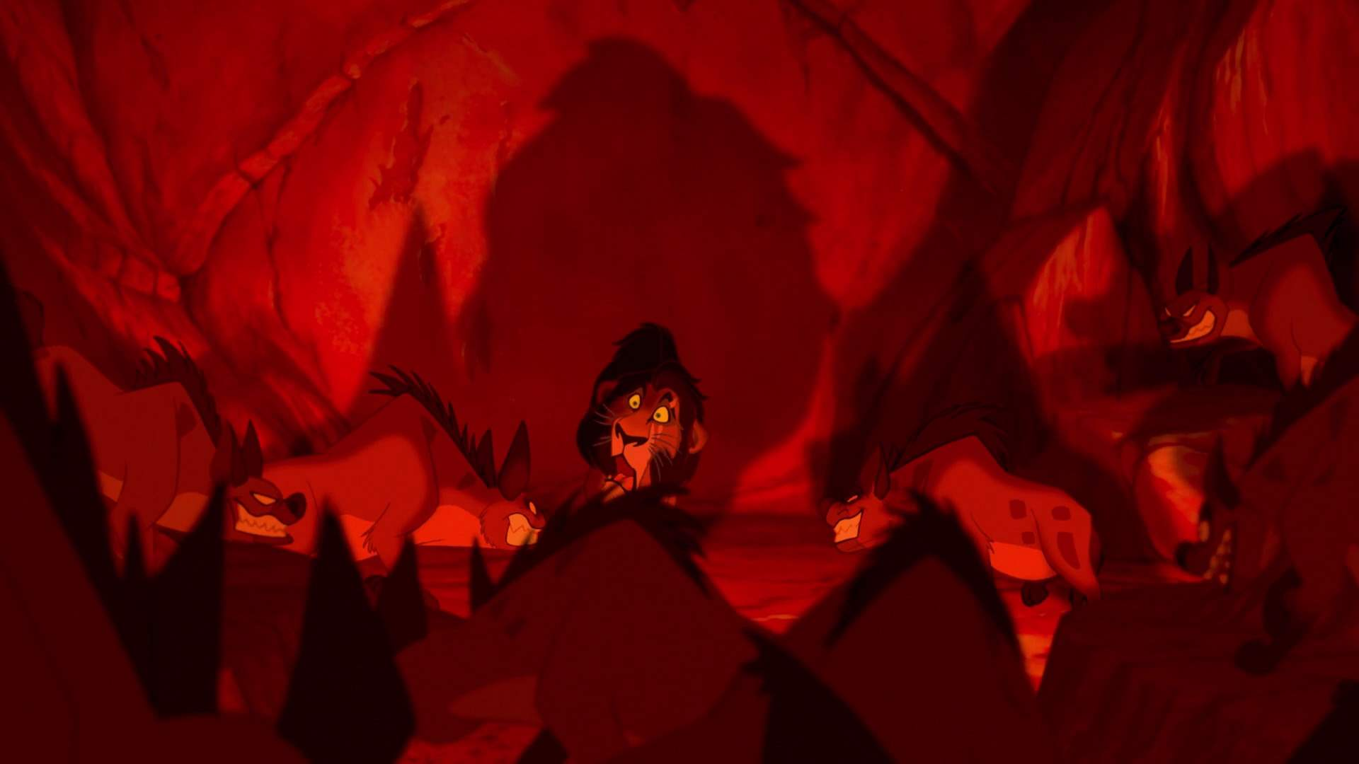 Scar's death in The Lion King