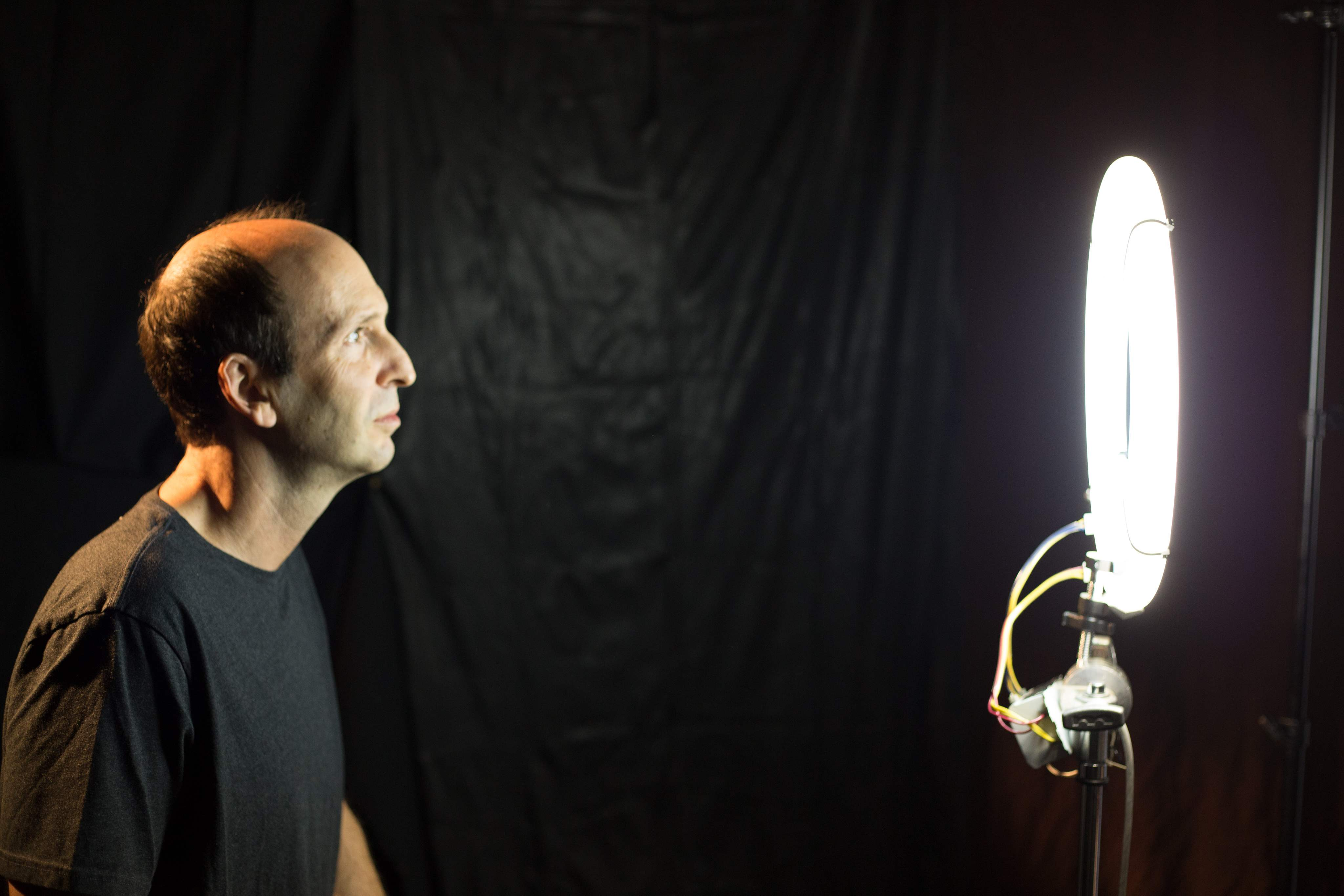Actor Jeffrey Lewis behind the scenes of Horrified!