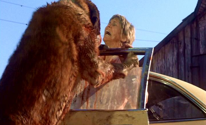 Donna Trenton being attacked by the rabid dog in Cujo.