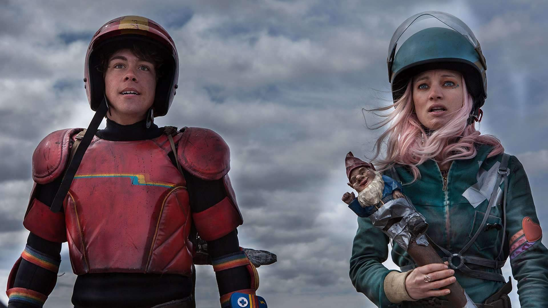 Munro Chambers and Laurence Lebouef in Turbo Kid