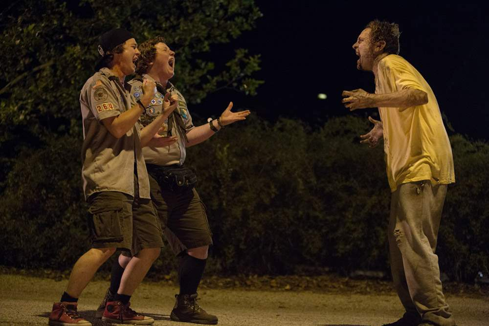Logan Miller and Joey Morgan in Scouts Guide To The Zombie Apocalypse
