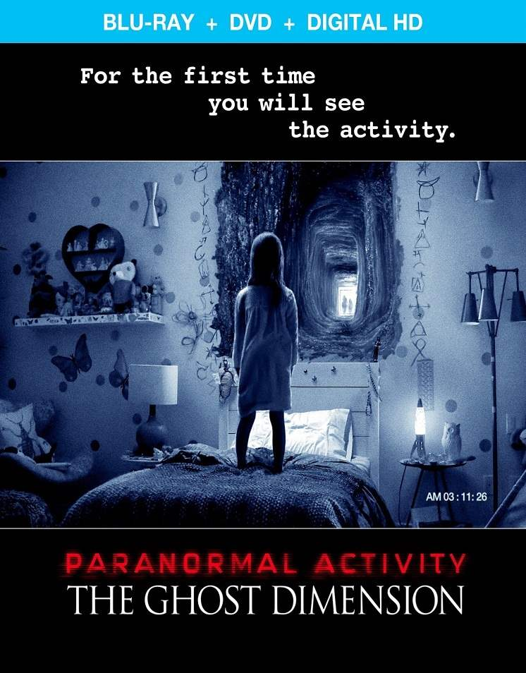 Blu-ray cover for Paranormal Activity: The Ghost Dimension