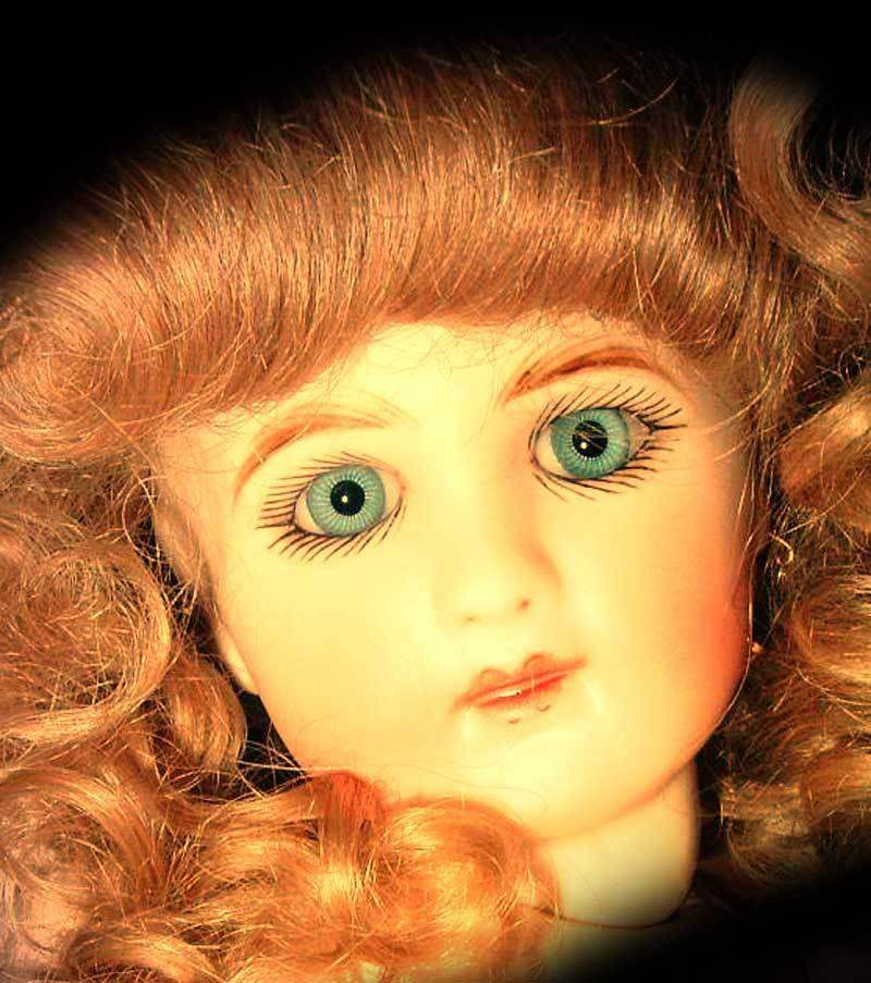 Amanda the beautiful but haunted doll.