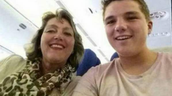 Gary and his mum took this snap before a bombing on their plane caused their fatalities.