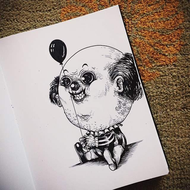 Pennywise as a baby by Alex Solis as apart of his Baby Terror series.
