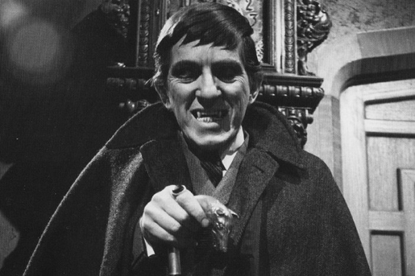 Dr Arden uses a replica stick from Dark Shadows.