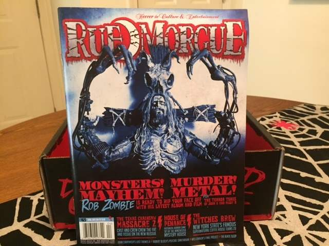 Rue Morgue issue #165 in the March 2016 Horror Block
