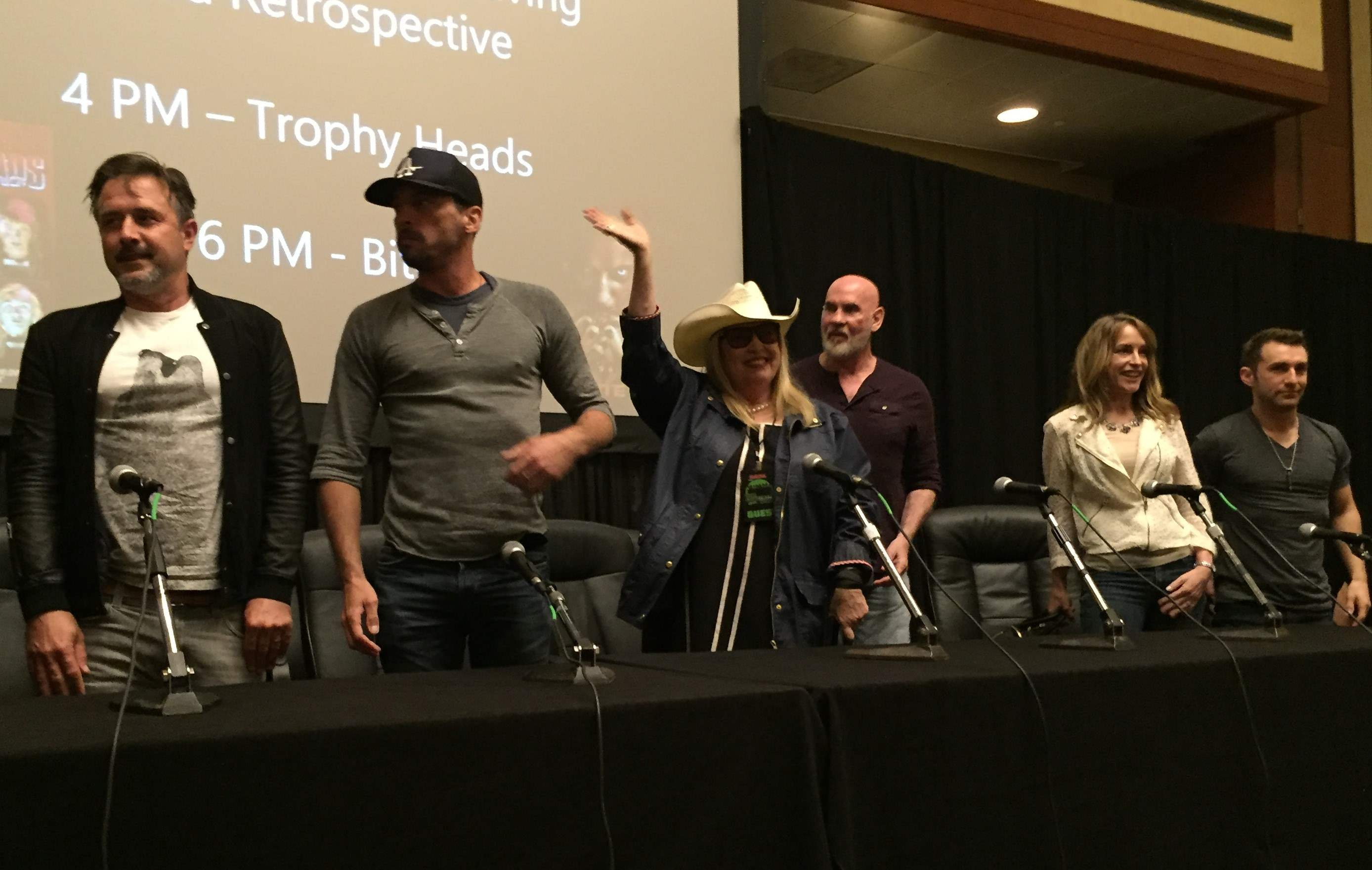 guests for the Remembering Wes Craven panel at Texas Frightmare Weekend 2016
