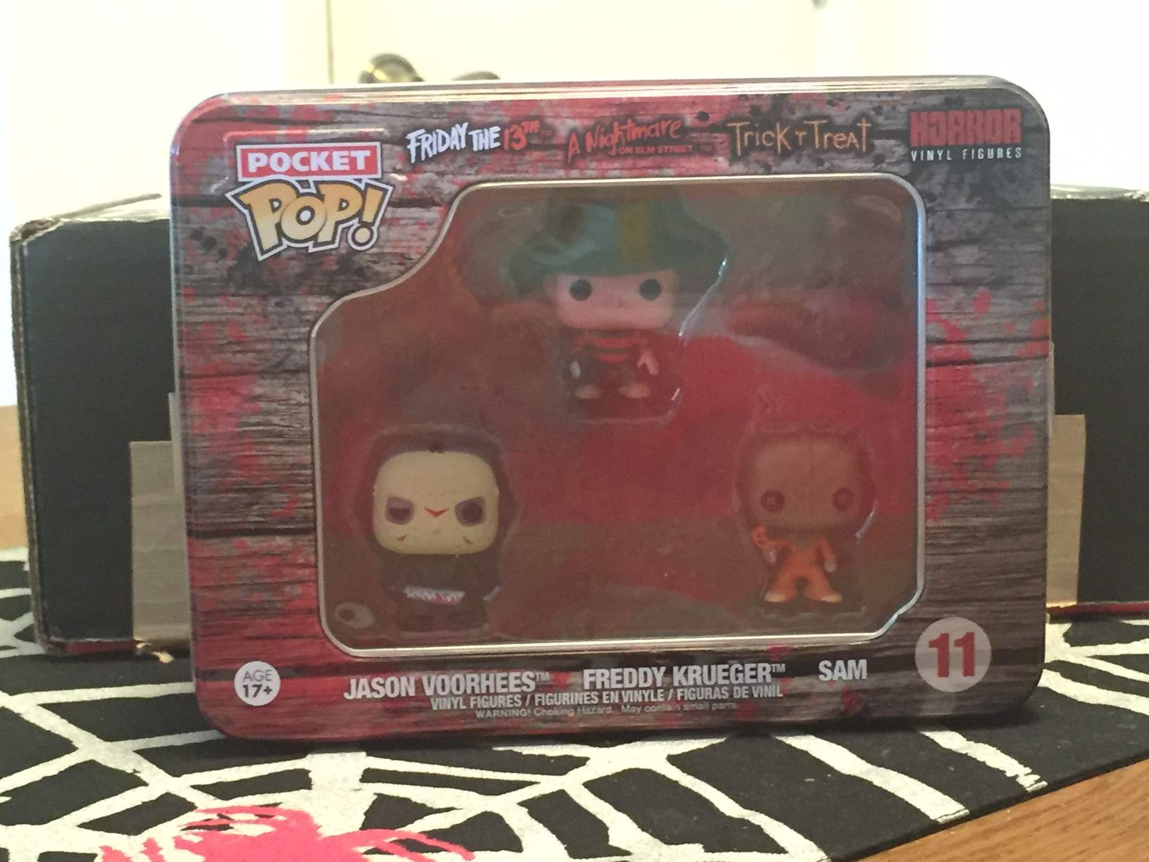 Pocket Pop Figures of Jason, Freddy, and Sam in the May 2016 Horror Block