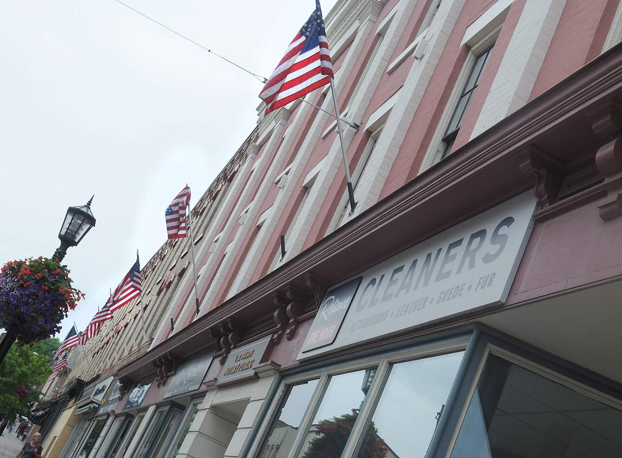 PORT HOPE -- US flags now hang in place of Canadian flags downtown for the filming of Stephen King's 'It'.