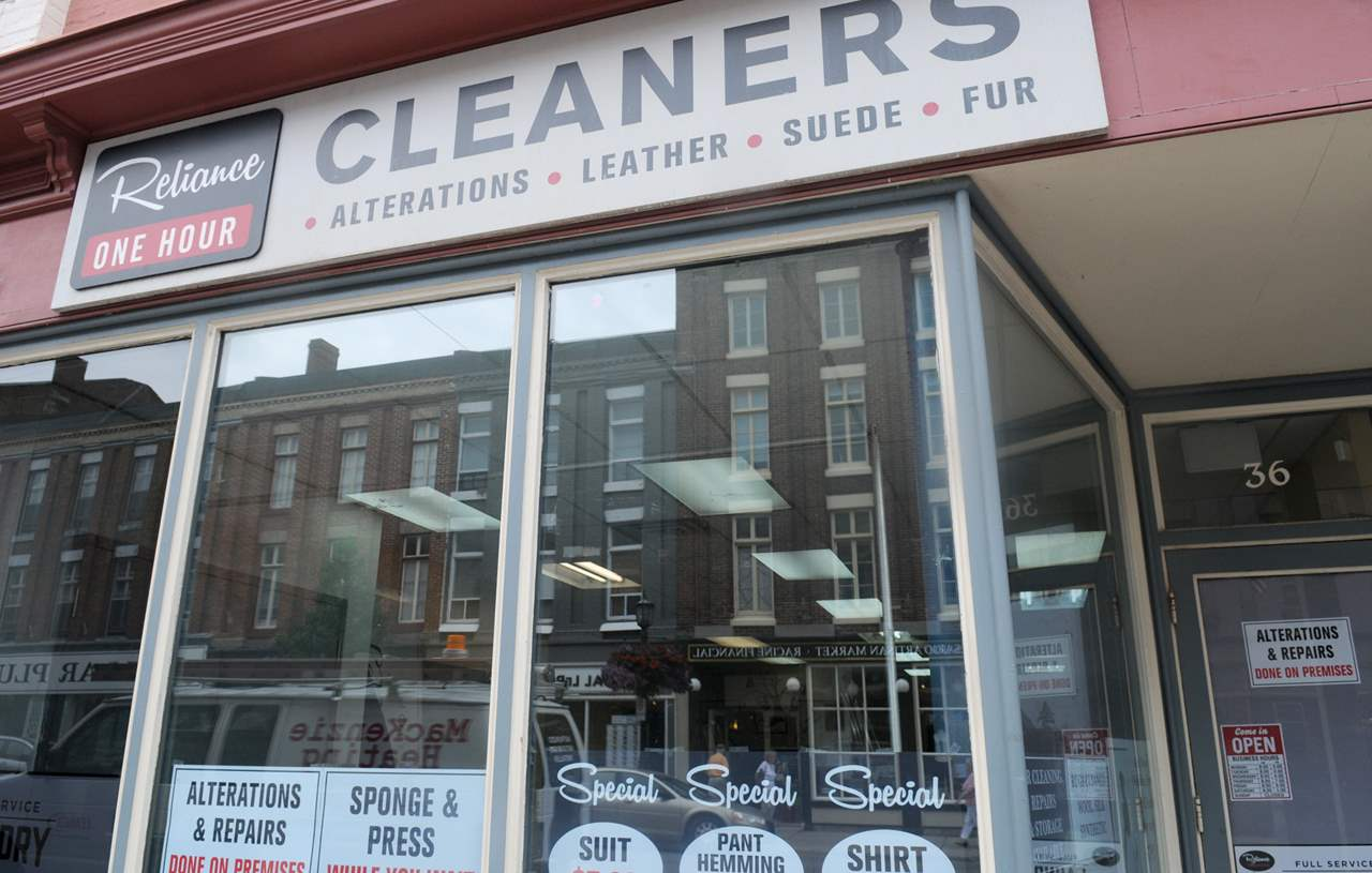 PORT HOPE -- An empty store front at 36 Walton Street changed to Reliance Cleaner's for the filming of Stephen King's It.