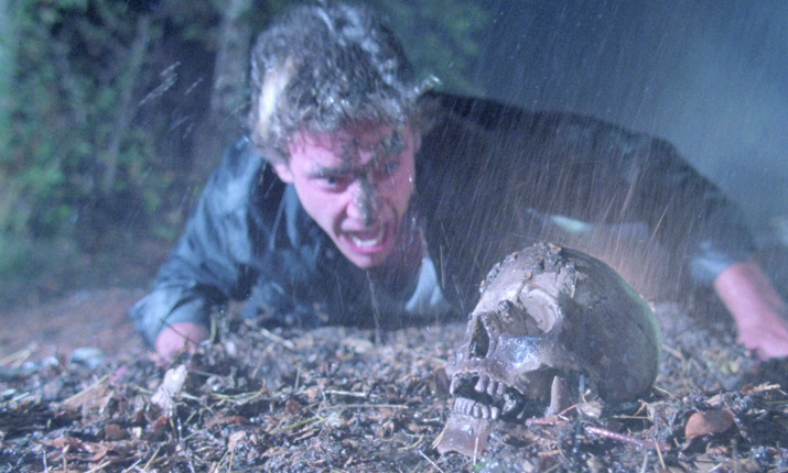 Rip finds a human skull on their ground in The Zero Boys