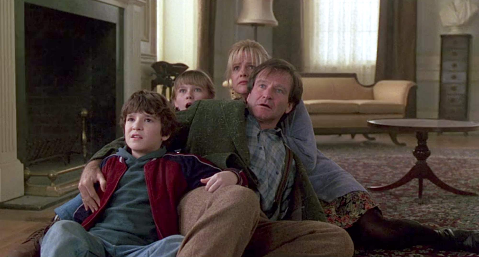 Scared family in Jumanji