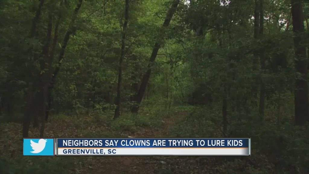 It has been reported groups of individuals dressed as clowns have been trying to lure kids into the woods.