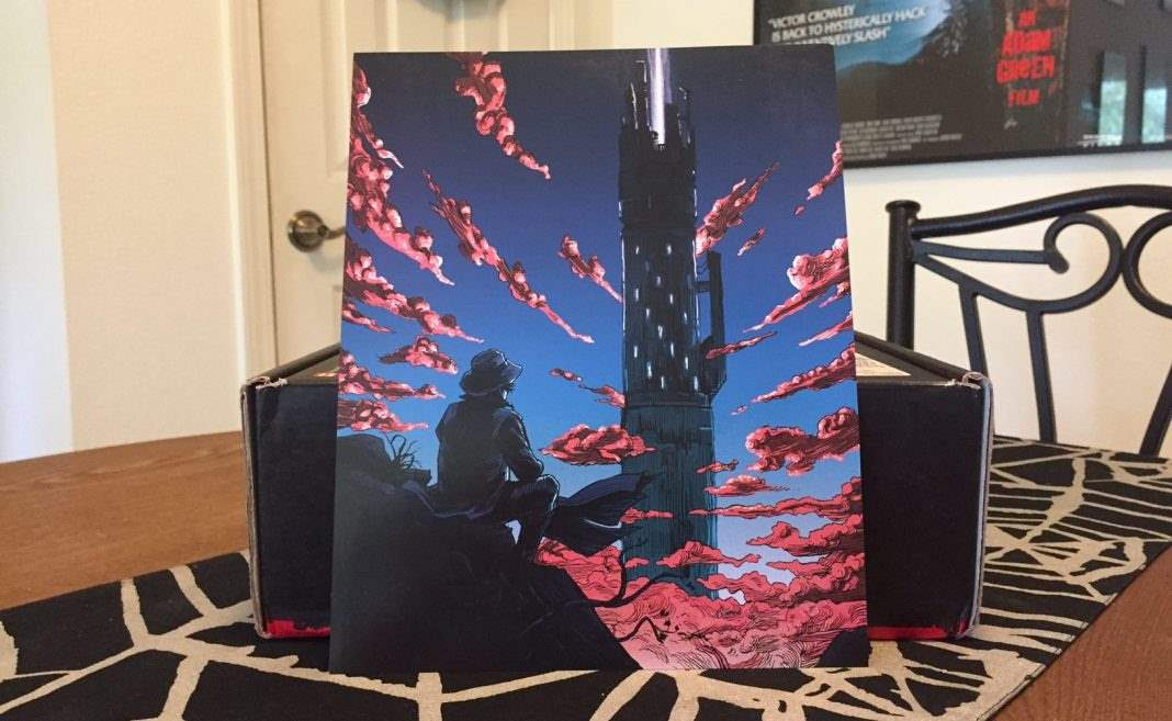 A Dark Tower art print in the September 2016 Horror Block