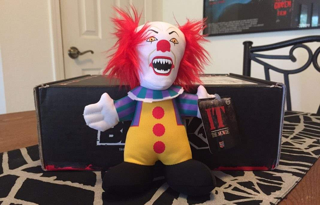 A Pennywise mini plush figure in the September 2016 Horror Block