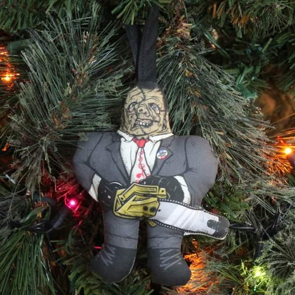 Leatherface tree ornament
