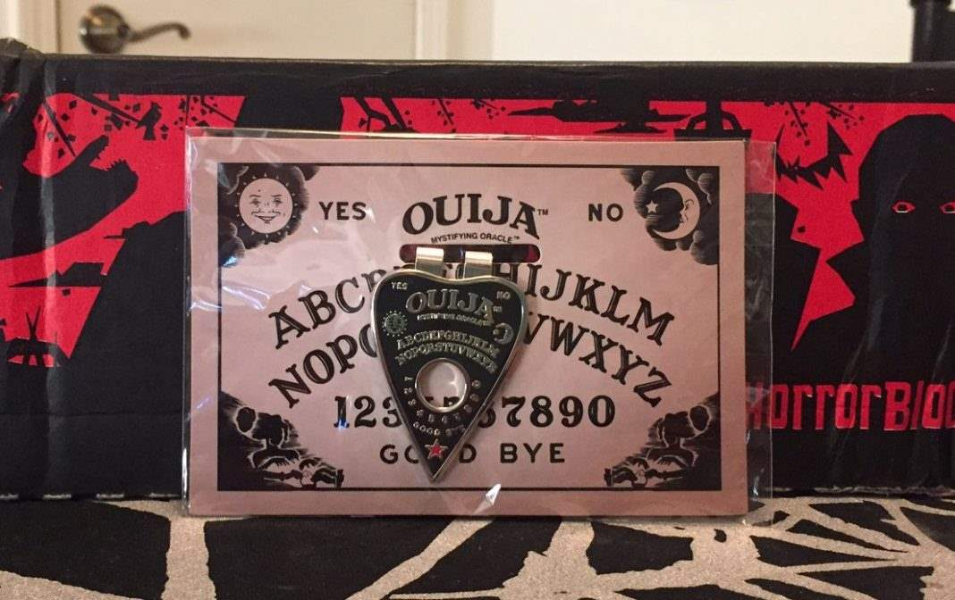 A Ouija money clip in the October 2016 Horror Block